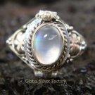 925 Silver Rainbow Moonstone Poison Ring LR-514-KT