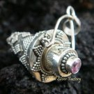 925 Silver Rose Quartz Perfume Pendant PP-240-KT