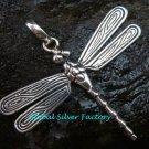 Sterling Silver Flying Dragonfly Pendant SSP-133-KT