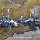 Sterling Silver Elephant Earrings SE-265-KA