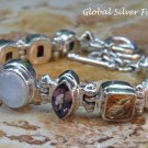 Sterling Siver Mixed Gemstone Bracelet SBB-467-KA