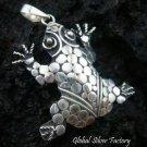 Sterling Silver Frog Pendant SSP-120-KA