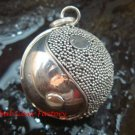 Sterling Silver 20mm  Chime Ball Pendant Ying Yang Design CH-340-KT