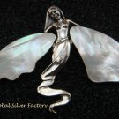 Large 925 Silver mop Pendant Brooch BC-177-KT