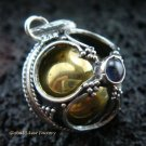 925 Silver Clover Amethyst Chime Ball Pendant CH-108-KT