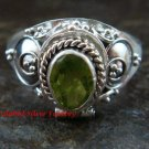 925 Silver Peridot Locket Ring LR-651-KT