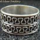 Sterling Silver Men, Women Wide band Spinner Ring SR-178-PS