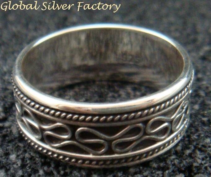 Sterling Silver Men, Women, Unisex Band Ring/ Spinner Ring SR-175-PS