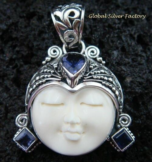 Sterling Silver Amethyst Goddess Pendant GDP-970-KT