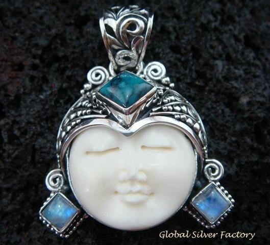 Sterling Silver Turquoise Goddess Pendant GDP-974-KT