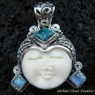 Sterling Silver Turquoise Goddess Pendant GDP-974-KT