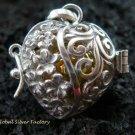 925 Silver Frangipani Harmony Ball Pendant HB-303-KT