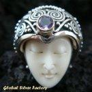 925 Silver & Cut Amethyst Goddess Ring GDR-266-PS