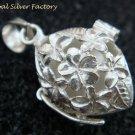 925 Silver Frangipani Harmony Ball/ Pregnancy Ball Pendant HB-372-KT