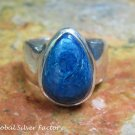 Silver and Chrysocolla Gemstone Ring RI-601-KT