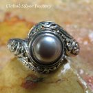 Pearl and Silver Balinese Ring RI-654-KA