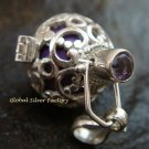 16mm Harmony Ball Pendant Amethyst Gemstone HB-328-KT