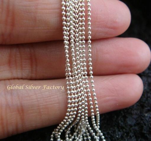 Sterling Silver 102cm Prayer Bead Chain SCC-136-KT