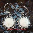 Sterling Silver Sun Moon Face  Ox Bone Earrings GDE-1156-NY