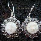 925 Silver Moon Face Love Heart Goddess Earrings GDE-922-NY