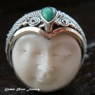 Sterling Silver Turquoise Goddess Ring GDR-1075-PS