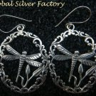 Sterling Silver Dragonfly Filigree Earrings SE-234-KA