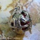 Sterling Silver Elephant Harmony Ball Pendant HB-409-KA