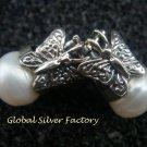 Silver and Pearl Butterflie Earrings ER-747-KA