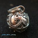 Silver Leaf Design 12mm Chime Ball Pendant CH-324-KT