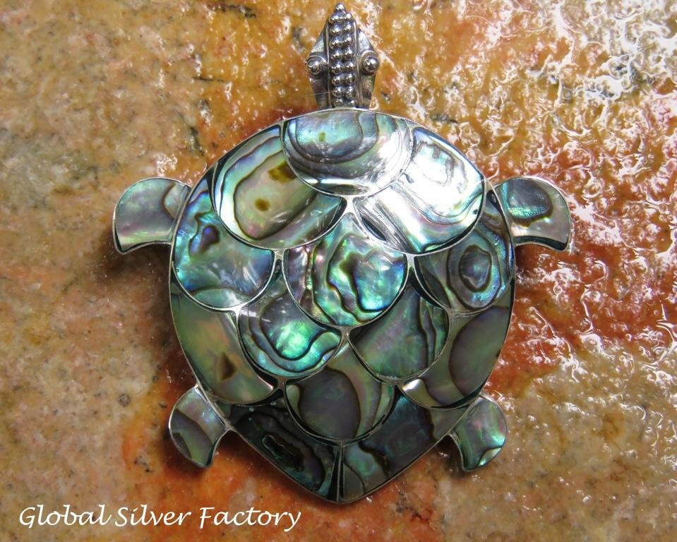 Silver and Paua Shell Brooch BC-187-KT