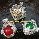3x Wholesale 925 Silver Mixed Design Harmony Ball Pendants SSB-270-GSF