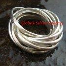 Sterling Silver & Ten Ring Linked Interlocking Ring SR-152-PS
