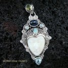 Sterling Silver & Mixed Gems Goddess Pendant GDP-868-PS