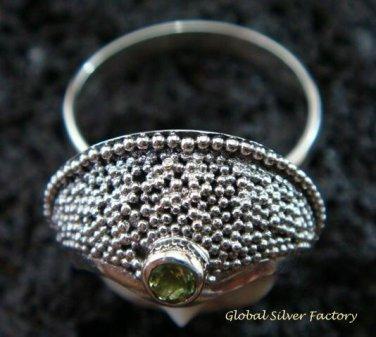 925 Silver Peridot Goddess Ring GDR-159-PS