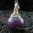 925 Silver Purple Chime Ball Pendant CH-116-KA