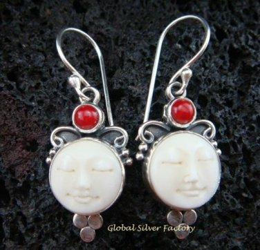 Sterling Silver Carnelian Goddess Earrings GDE-925-NY
