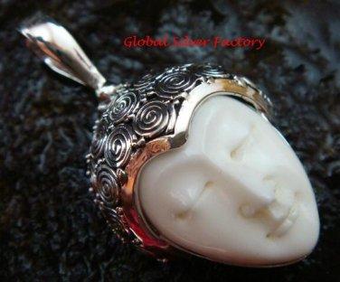 Handmade Sterling Silver Bali Goddess Pendant GDP-1100-PS