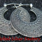 925 Silver Traditional Bali Style Hoop Earrings SE-212-KT