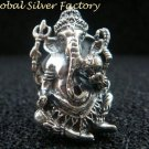 Chunky 925 Sterling Silver Hindu Elephant Ganesh Ring SR-187-PS