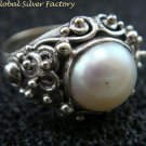 Sterling Silver Freshwater Pearl Ring RI-415-NY
