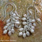 Natural South Sea Pearl Cluster Dangle Earrings ER-842-NY