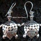 Sterling Silver Turtle Earrings SE-163-KT