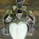 Silver and Amethyst Gemstone Goddess Pendant GDP-1247-KT
