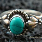Sterling Silver Turquoise Gemstone Ring RI-278-KT