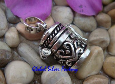 Sterling Silver Cremation/Prayer Box Perfume Pendant PP-106-TH