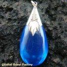 925 Silver Blue Shappire (syn) Pendant SJ-204-KT