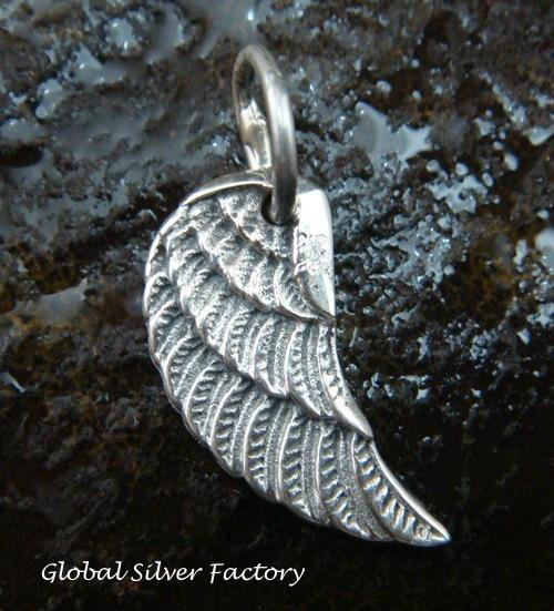 Sterling Silver Angel Wing Pendant SSP-136-KT