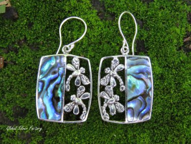 Sterling Silver and paua Shell Dragonfly Earrings ER-874