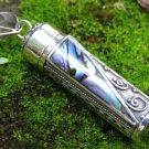 Paua Abalone Shell and Silver Perfume Pendant PP-509