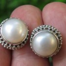 Sterling Silver and Pearl Stud Earrings ER-871